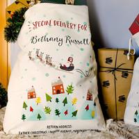 Wholesale China manufacturer supply fashion 100%cotton shopping bags mini tote christmas bag