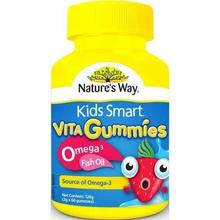 Nature's Way Kids Smart Vita Gummies Omega 3 Fish Oil 60 (Source of Omega 3) Made in Australia