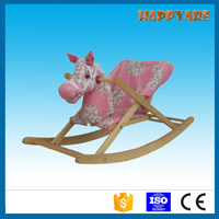 horse plush rocking chair with sound baby rocker