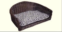 wicker pet bed