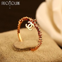unique european copy cc jewelry 18k gold words copper one size fits all ring