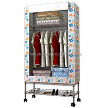 Bamboo tube design Oxford adjustable steel mesh structure portable closet