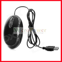 800DPI USB Optical Mouse - Black (120CM-Cable)
