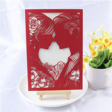 Customized design welcomed a4 wedding invitation card paper