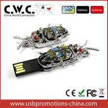 Wholesale alibaba diamond jewelry USB flash drive customized USB flash drive LOGO 1GB/2GB/4GB/8GB/16GB pendrive