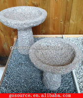 handmade natural stone bird bath
