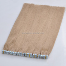 Hot!Dye Brands Professional Hair Long Lasting Best Quality hand tied skin weft pu taped hair extensions