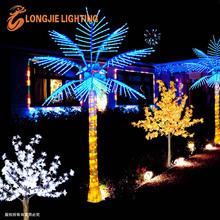 Tropical artificial lighted led coconut leaf palm tree light/landscape lighting