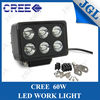 factory wholesale car accessory 60w cree led work light square,auto head led lamp