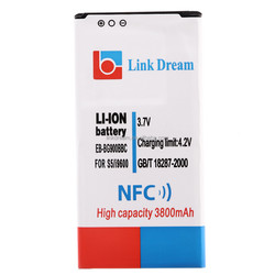 LD-3800I9600NFC Link Dream 3800mAh High Capacity Rechargeable Battery EB-BG900BBC With NFC for Samsung Galaxy S5 I9600 G900