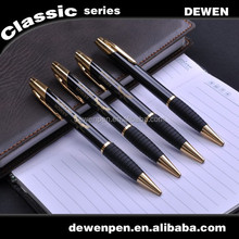 Cheap hot sales metal ball pen, promotional gift ball pen with rubber holder