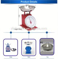 Flat tray spring dial platform scales mechanical weighigng apparatus
