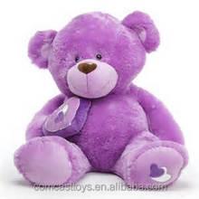 Plush Purple teddy bear stuffed purple culinary herbs teddy bear