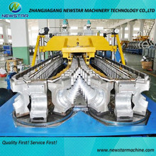 HDPE water drainage single or double wall corrugated pipe machine