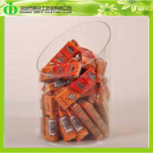 DDW-0082 ISO9001 Chinese Factory Made SGS Non-toxic Test Cheap Round Acrylic Chocolate Bars Box
