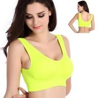 B.BANG Women's Athletic Sport Bra No Pad Brassiere Stretch Underwear