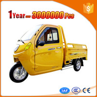 passenger high quality electric truck cargo tricycle for sale with rain tent