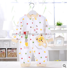 Lastest design soft cotton custom new born toddles baby rompers 2015