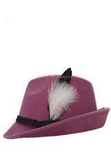 black fedora hat with white band felt fedora hat white fedora hat for kids QHAT-5041