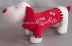Customized plush stuffed animal toys red dog dolls toy promotional gift