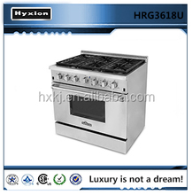 Hot sale professional kitchen appliances gas range with gas oven
