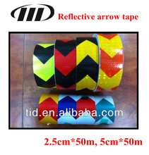 reflective arrow tape, reflective pvc tape for truck, conpicuous self adhesive reflective vehicle sticker