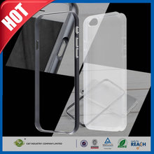 C&T The newest 2 in 1 hybrid aluminum bumper clear tpu cell phone cover for iphone 6