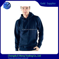 Wholsale Solid Color Men Blank Pullover Hoodies in Low Price