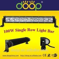 low defective rate 12v 24v 48v 6000k 100w single row 5wleds light bar