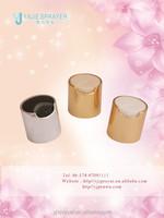 China aluminum disc top cap for lotion, shampoo