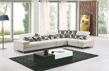 Cow leather Modern Sectional Sofa