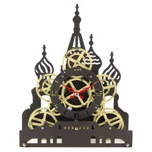 Red Square gear clock desktop clock for home decor table clock