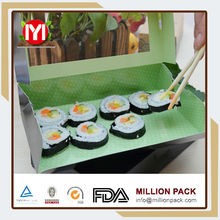 New design fashion Paper Sushi Box Big,pizza sushi crisper set