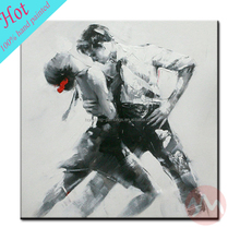 Modern wall hanging canvas handmade abstract dance oil painting