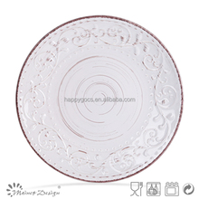 2015 colored plates antique embossed stoneware dinner sets, ceramic embossed dinnerware, antique stoneware dinnerware