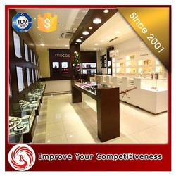 New arrived used acrylic glass jewelry display cabinet cases