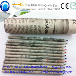 environment protection waste newspaper recycling paper pencil making machine with low price