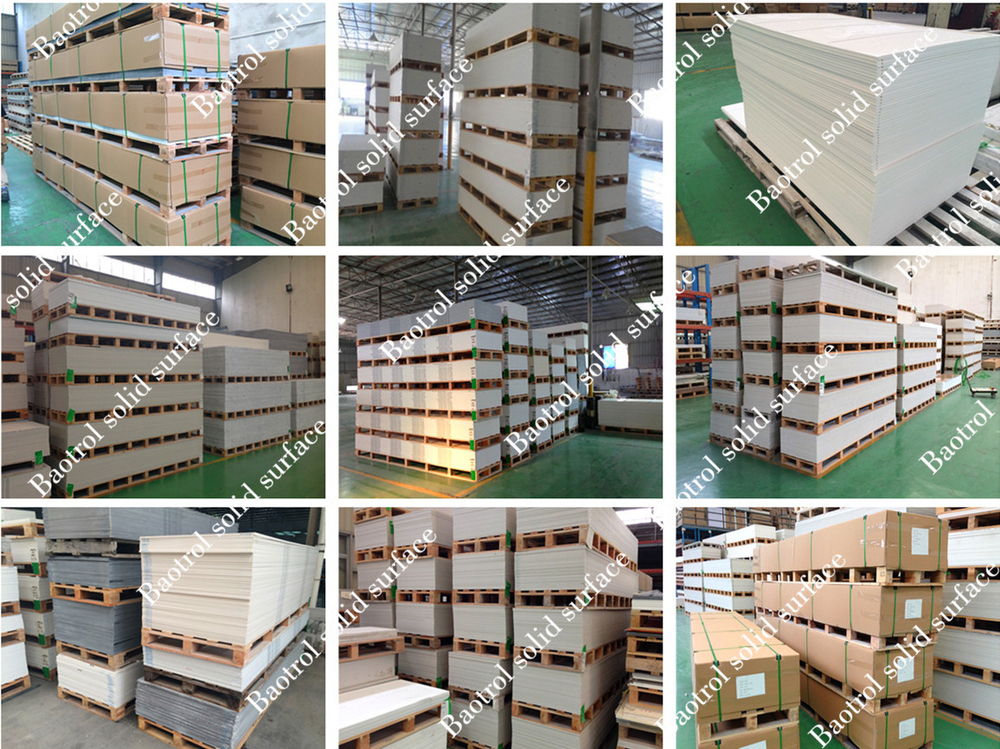 slab form and solid surface artificial stone type composite acrylic solid surface
