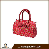 wholesale fashion designer red elegance lady satin handbag