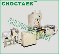 Disposable Aluminium Foil Food Container Machine With Automatic Stacker
