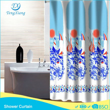 Most Popular Hookless Shower Curtain Sailing Boat Design