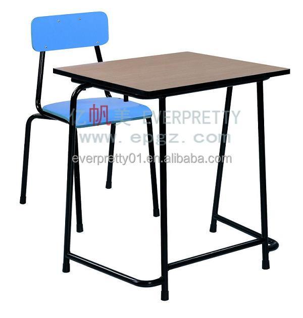 Cheap factory manufacture school student single fix desk - Student desk and chair set ...