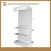 Classic Tego metal supermarket shelving with light box display case