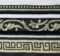 Super soft elegance flower printing Coral fleece fabric for blanket/bedding