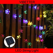 2016 hot multicolor IP44 Xmas Wedding Party Holiday outdoor decoration 6.9m 50leds Solar Fairy LED Christmas Lights