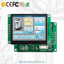 3.5'' intelligent TFT LCD dot matrix display with CPU, driver, touchscreen, RS232 UART etc.