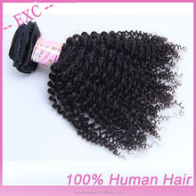 Hot style unique fashion&charming 18'' dark brown kinky curl Brazilian virgin remy human hair extension paypal accept