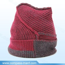 Thick Special Weave Method Split joint Knit Beanie Hats