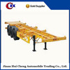 China good price 3 axles 40ft skeleton container semitrailer