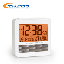 Solar powered and radio controlled table clock with temperature and humidity